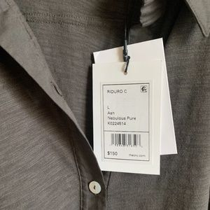 Theory Ash Color Shirt Size Large